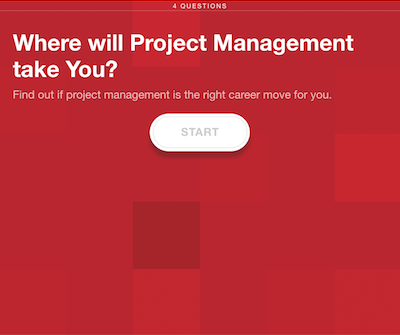 Screen Shot of Project Management Campaign Quiz