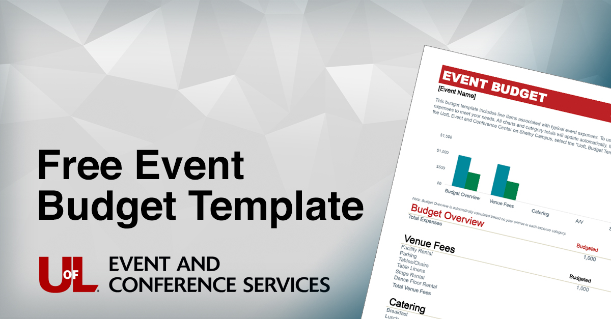 Event Budget Template Facebook Graphic